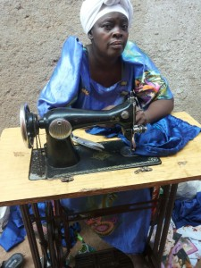 This sewing machine has been donated to Namutumba Council in order to train people and enable them to offer a business.