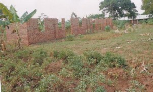 The new classroom block takes shape at Kagaluma School